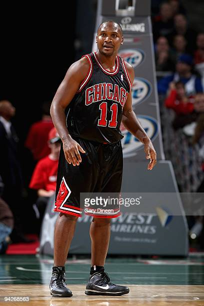 Lindsey Hunter of the Chicago Bulls stands on the court during the game against the Milwaukee Bucks on November 30 2009 at the Bradley Center in...