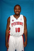 Lindsey Hunter of the Detroit Pistons poses for a portrait during NBA Media Day at the Pistons Practice Facility on October 1 2007 in Auburn Hills MI...