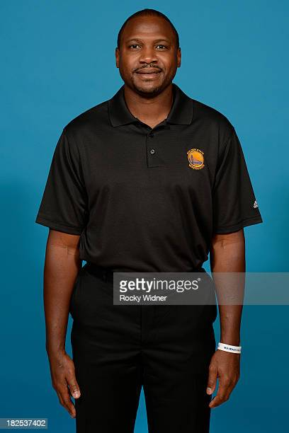 Lindsey Hunter poses for a photo on Golden State Warriors media day held September 27 2013 at the Warriors practice facility in Oakland California...