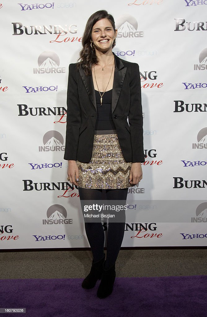 Lindsey Kraft attends the 'Burning Love' season 2 premiere at Paramount Theater on the Paramount Studios lot on February 5, 2013 in Hollywood, California.