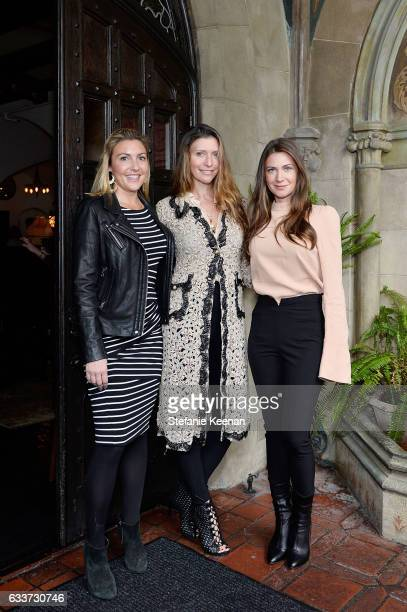 Lindsey Leach Valentina Micchetti and Rochelle Gores Fredston attends Barneys New York Michelle Alves Oseary Celebrate Ana Khouri at Chateau Marmont...