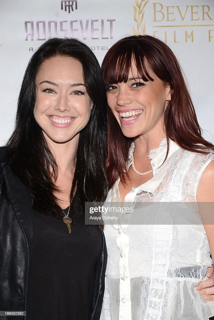 Lindsey McKeon (L) and <a gi-track='captionPersonalityLinkClicked' href=/galleries/search?phrase=Jessica+Sutta&family=editorial&specificpeople=688044 ng-click='$event.stopPropagation()'>Jessica Sutta</a> attend the 13th Annual International Beverly Hills Film Festival - Opening Night Gala at TCL Chinese Theatre on May 8, 2013 in Hollywood, California.