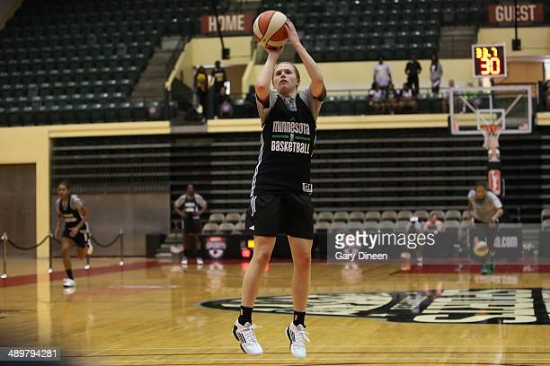 Lindsey Moore of the Minnesota Lynx practices as part of the WNBA Preseason Tournament 2014 on May 10 2014 at ESPN Wide World of Sports Complex in...