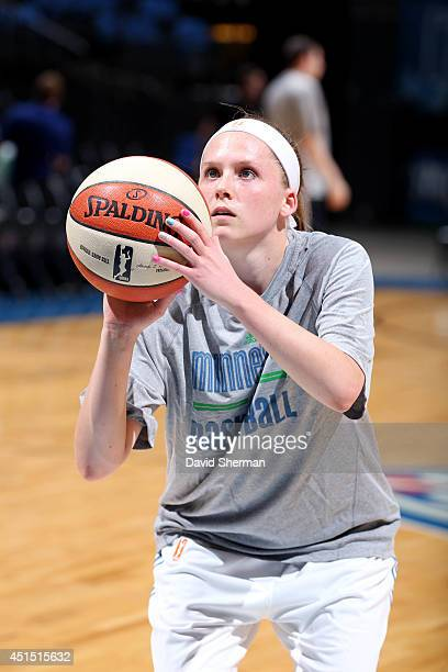 Lindsey Moore of the Minnesota Lynx warms up before a game against the Australian Opals on May 5 2014 at Target Center in Minneapolis Minnesota NOTE...