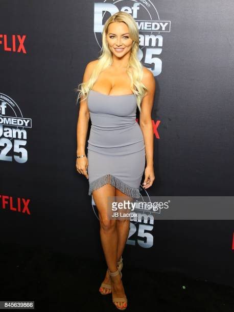 Lindsey Pelas attends Netflix Presents Russell Simmons 'Def Comdey Jam 25' Special Event at The Beverly Hilton Hotel on September 10 2017 in Beverly...