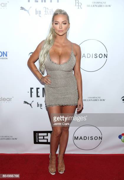 Lindsey Pelas attends the Launch Of FENTY PUMA By Rihanna A/W 2017 Collection at Madison Beverly Hills on September 27 2017 in Beverly Hills...