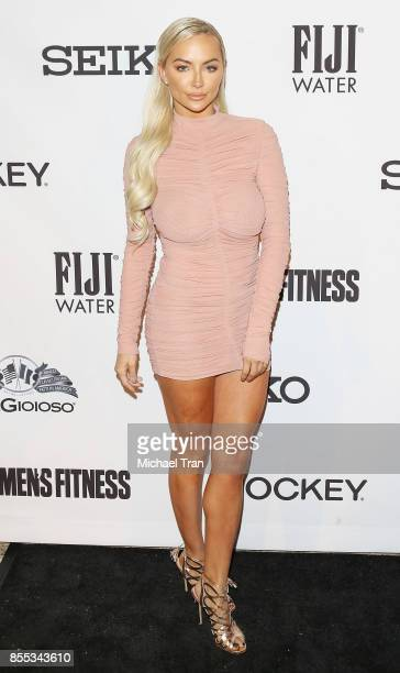 Lindsey Pelas attends the Men's Fitness 2017 Annual Game Changers event held at SheatsGoldstein residence on September 28 2017 in Beverly Hills...