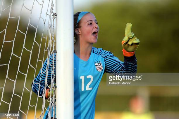 Lindsey Romig of USA U16 gestures during the 2nd Female Tournament 'Delle Nazioni' final match between Italy U16 and USA U16 on April 29 2017 in...