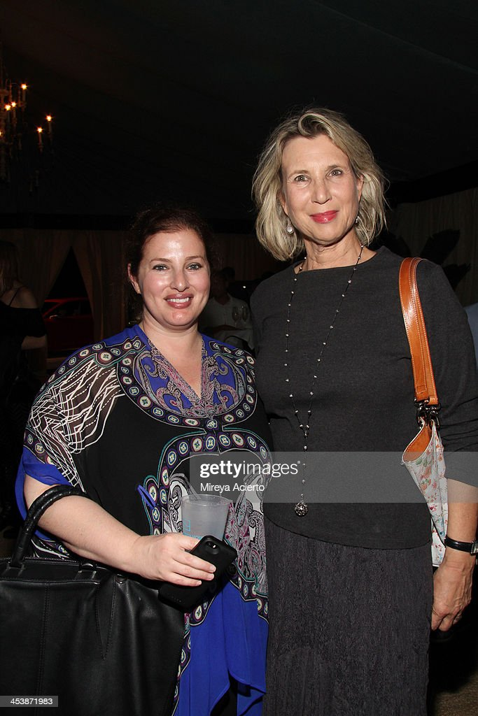Lindsey Schiff-Abrams (L) and Bianca Roberts attend the Artsy celebration for CalArts' John Baldessari Studios, with Audi, Valentino, and Vhernier at Soho Beach House on December 5, 2013 in Miami Beach, Florida.