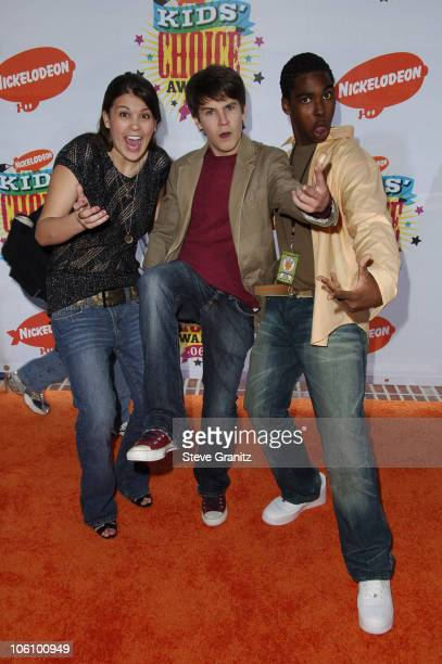 Lindsey Shaw Devon Werkheiser and Dan Curtis Lee during Nickelodeon's 19th Annual Kids' Choice Awards Arrivals at Pauley Pavilion in Westwood...