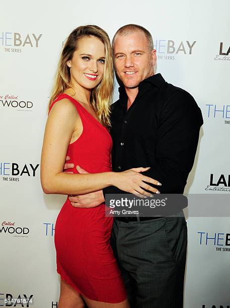 Lindsey Smith and Sean Carrigan attends the 5th Annual LANY Entertainment Mixer at St Felix on March 10 2016 in Hollywood California