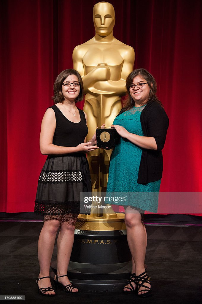 Lindsey St. Pierre and Ashley Graham attends The Academy Of Motion Picture Arts And Sciences' 40th Annual Student Academy Awards Ceremony at AMPAS Samuel Goldwyn Theater on June 8, 2013 in Beverly Hills, California.