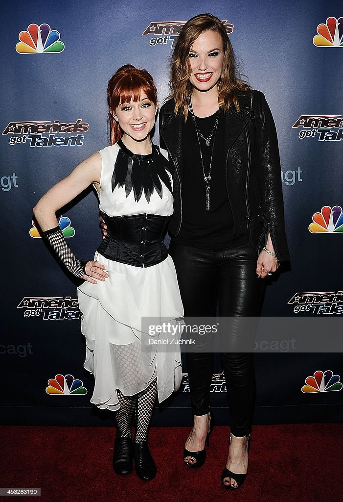 <a gi-track='captionPersonalityLinkClicked' href=/galleries/search?phrase=Lindsey+Stirling&family=editorial&specificpeople=9719845 ng-click='$event.stopPropagation()'>Lindsey Stirling</a> and <a gi-track='captionPersonalityLinkClicked' href=/galleries/search?phrase=Lzzy+Hale&family=editorial&specificpeople=5718929 ng-click='$event.stopPropagation()'>Lzzy Hale</a> attend 'America's Got Talent' season 9 post show red carpet event at Radio City Music Hall on August 6, 2014 in New York City.