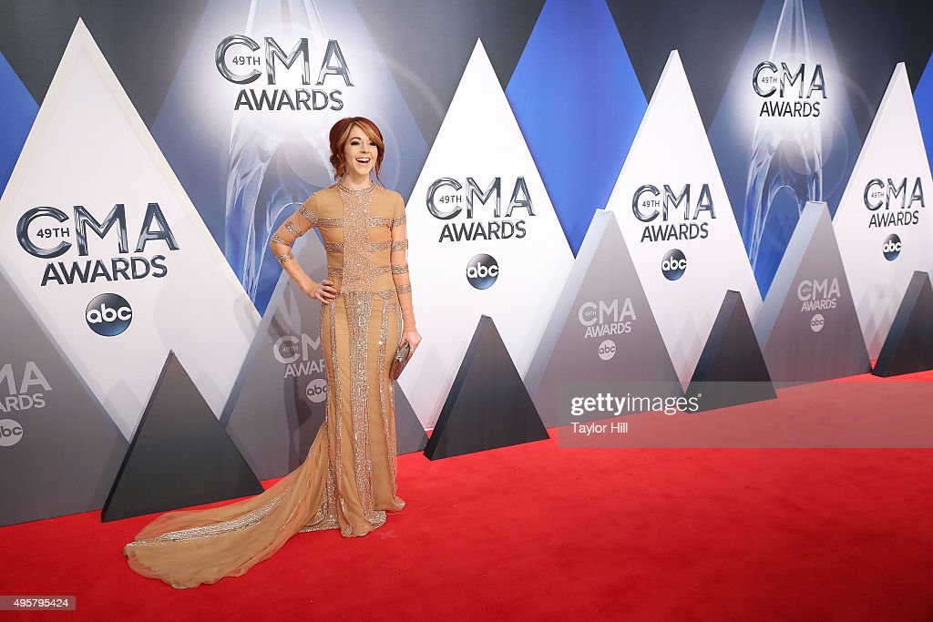 Lindsey Stirling attends the 49th annual CMA Awards at the Bridgestone Arena on November 4, 2015 in Nashville, Tennessee.