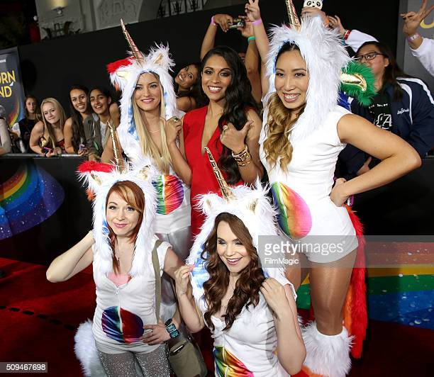 Lindsey Stirling iJustine Lilly Singh Rosanna Pansino and Cassey Ho attends YouTube Red Original Premiere of 'A Trip To Unicorn Island' at TCL...