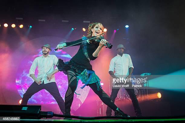 Lindsey Stirling performs at Zenith de Paris on November 1 2014 in Paris France