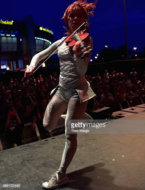 Lindsey Stirling performs during Billboard Hot 100 Festival Day 2 at Nikon at Jones Beach Theater on August 23 2015 in Wantagh New York