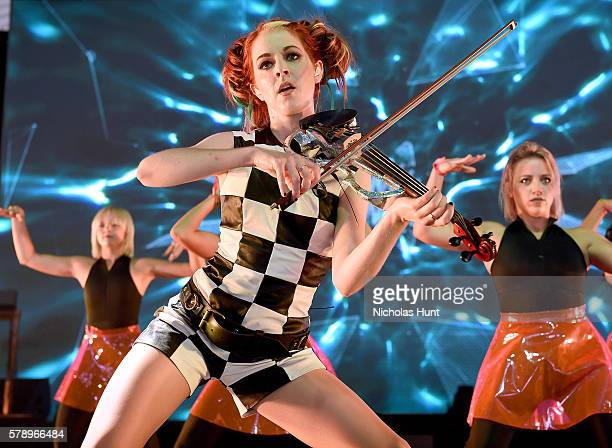Lindsey Stirling performs onstage at the 2016 Panorama NYC Festival Day 1 at Randall's Island on July 22 2016 in New York City
