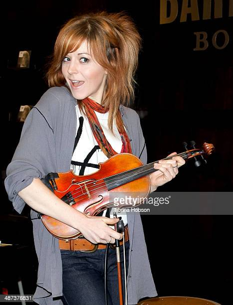 Lindsey Stirling signs copies of her new CD 'Shatter Me' and performs at Barnes Noble bookstore at The Grove on April 29 2014 in Los Angeles...
