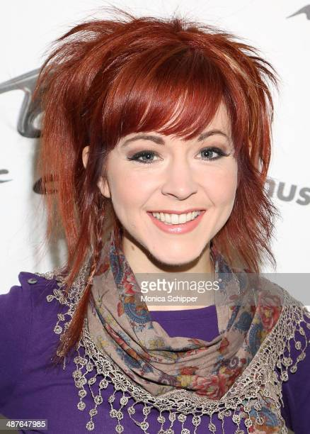 Lindsey Stirling visits 'You A' at Music Choice on May 1 2014 in New York City