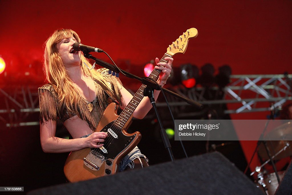 Lindsey Troy of Deap Vally performs at Day 2 of Electric Picnic at Stradbally Hall Estate on August 31, 2013 in Dublin, Ireland.