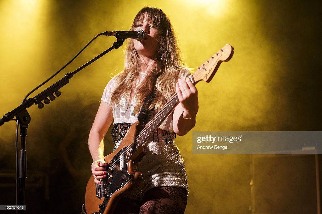 Lindsey Troy of Deap Vally performs on stage at Tramlines Festival at The Leadmill on July 26, 2014 in Sheffield, United Kingdom.
