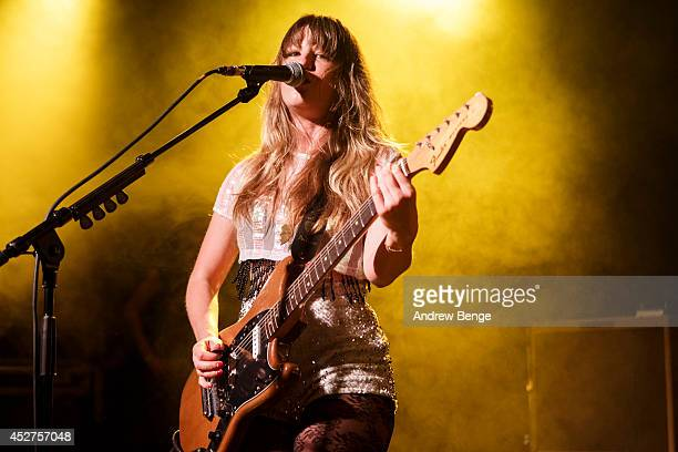 Lindsey Troy of Deap Vally performs on stage at Tramlines Festival at The Leadmill on July 26 2014 in Sheffield United Kingdom