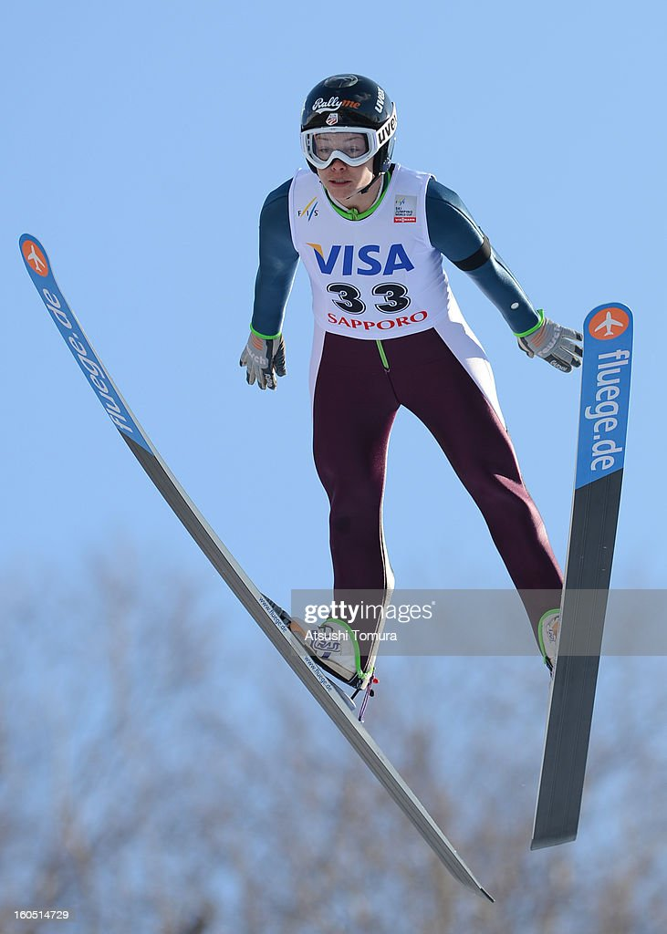 <a gi-track='captionPersonalityLinkClicked' href=/galleries/search?phrase=Lindsey+Van&family=editorial&specificpeople=5718988 ng-click='$event.stopPropagation()'>Lindsey Van</a> of USA in action during day one of the FIS Women's Ski Jumping World Cup at Miyanomori Jump Stadium on February 2, 2013 in Sapporo, Japan.