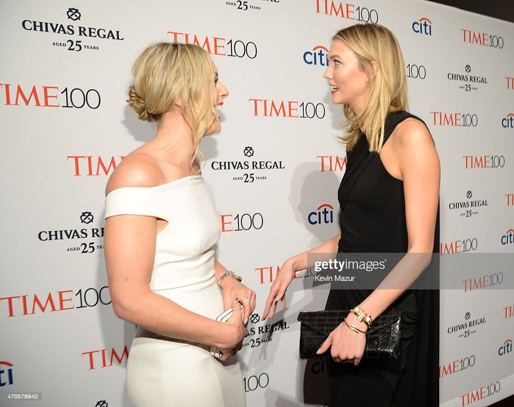 Lindsey Vonn and Karlie Kloss attend TIME 100 Gala, TIME's 100 Most Influential People In The World at Jazz at Lincoln Center on April 21, 2015 in New York City.