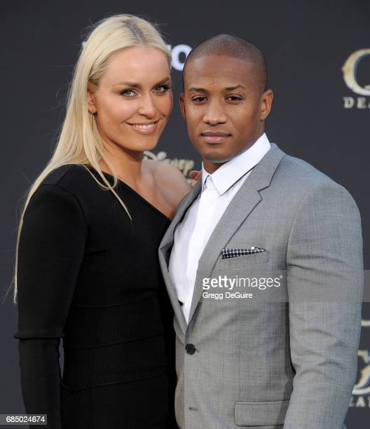 Lindsey Vonn and Kenan Smith arrive at the premiere of Disney's 'Pirates Of The Caribbean Dead Men Tell No Tales' at Dolby Theatre on May 18 2017 in...