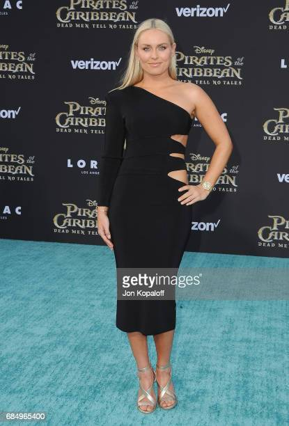 Lindsey Vonn arrives at the Los Angeles Premiere 'Pirates Of The Caribbean Dead Men Tell No Tales' at Dolby Theatre on May 18 2017 in Hollywood...