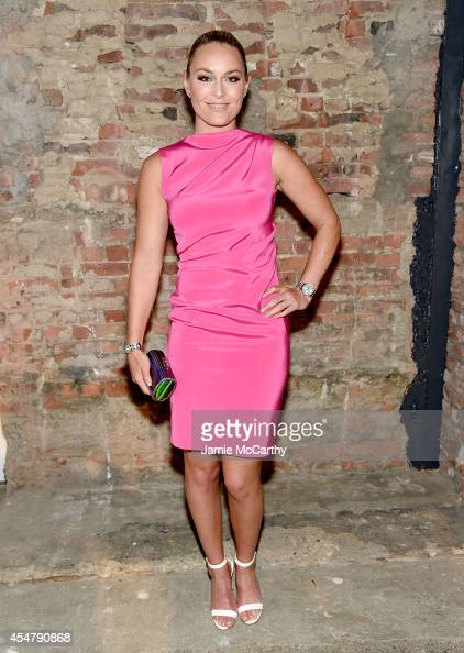 Lindsey Vonn attends Christian Siriano during MercedesBenz Fashion Week Spring 2015 at Eyebeam Atelier on September 6 2014 in New York City