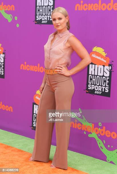 Lindsey Vonn attends the 2017 Nickelodeon Kids' Choice Sports Awards at Pauley Pavilion on July 13 2017 in Los Angeles California