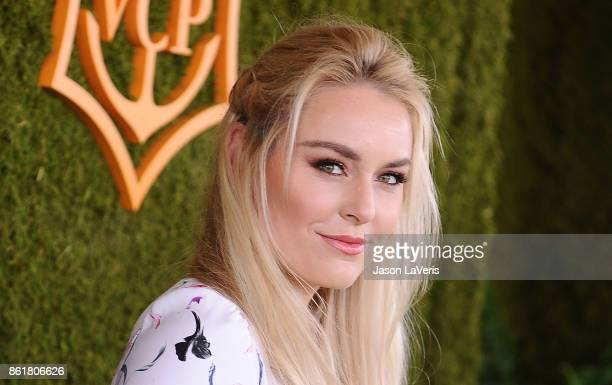 Lindsey Vonn attends the 8th annual Veuve Clicquot Polo Classic at Will Rogers State Historic Park on October 14 2017 in Pacific Palisades California