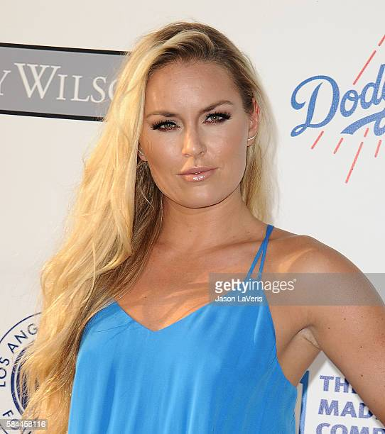 Lindsey Vonn attends the Los Angeles Dodgers Foundation Blue Diamond gala at Dodger Stadium on July 28 2016 in Los Angeles California