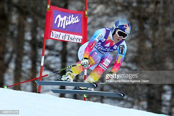 Lindsey Vonn of the USA competes during the Audi FIS Alpine Ski World Cup Women's Downhill on December 21 2013 in Val d'Isere France