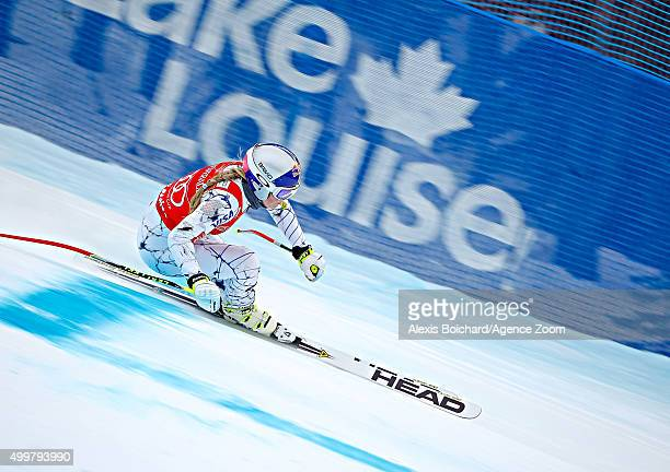 Lindsey Vonn of the USA competes during the Audi FIS Alpine Ski World Cup Womenâs Downhill Training on December 03 2015 in Lake Louise Canada