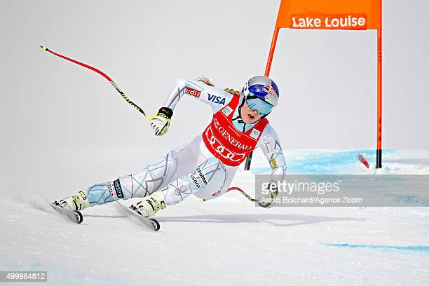 Lindsey Vonn of the USA competes during the Audi FIS Alpine Ski World Cup Women's Downhill on December 04 2015 in Lake Louise Canada
