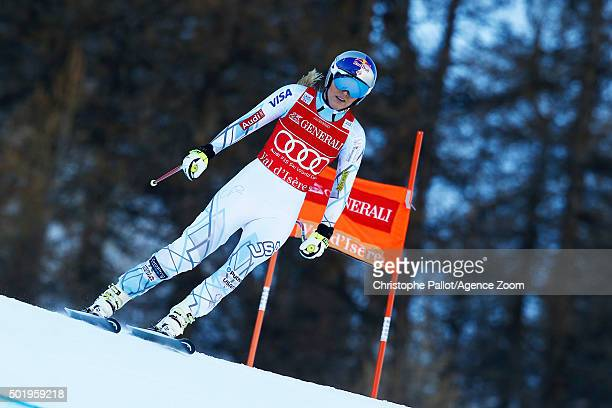 Lindsey Vonn of the USA crashes out during the Audi FIS Alpine Ski World Cup Women's Downhill on December 19 2015 in Val d'Isere France