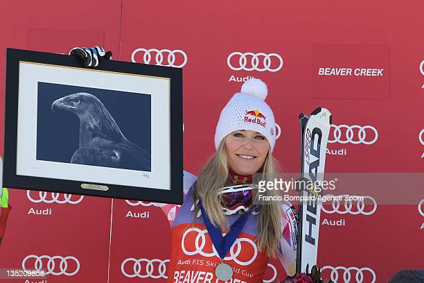 Lindsey Vonn of the USA takes 1st place during the Audi FIS Alpine Ski World Cup Women's SuperG on December 7 2011 in Beaver Creek USA