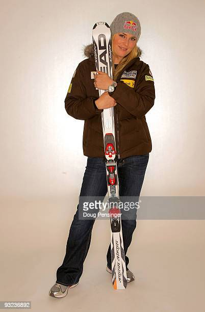 Lindsey Vonn of the Women's US Alpine Ski Team poses for a portrait during media day on November 19 2009 in Copper Mountain Colorado