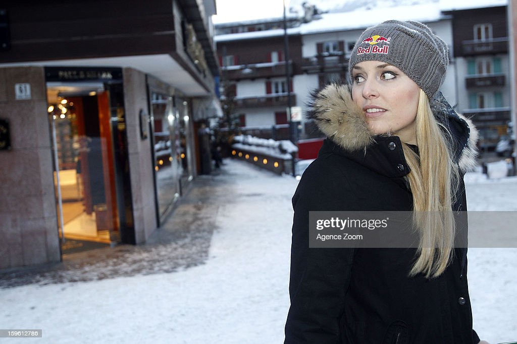 Lindsey Vonn of the Womens U.S. Ski Team spends an afternoon site seeing January 17. 2012 in Cortina d'Ampezzo, Italy.