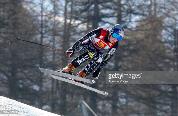 Lindsey Vonn of USA takes 1st Place during the FIS Alpine Women's Skiing World Cup Downhill event on February 9 2008 in Sestriere Italy
