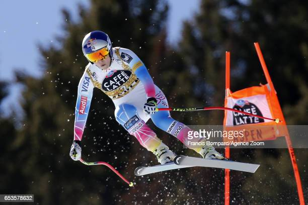 Lindsey Vonn of USA takes 2nd place during the Audi FIS Alpine Ski World Cup Finals Women's and Men's Downhill on March 15 2017 in Aspen Colorado