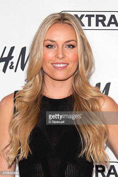 Lindsey Vonn visits 'Extra' at their New York studios at HM in Times Square on April 21 2015 in New York City