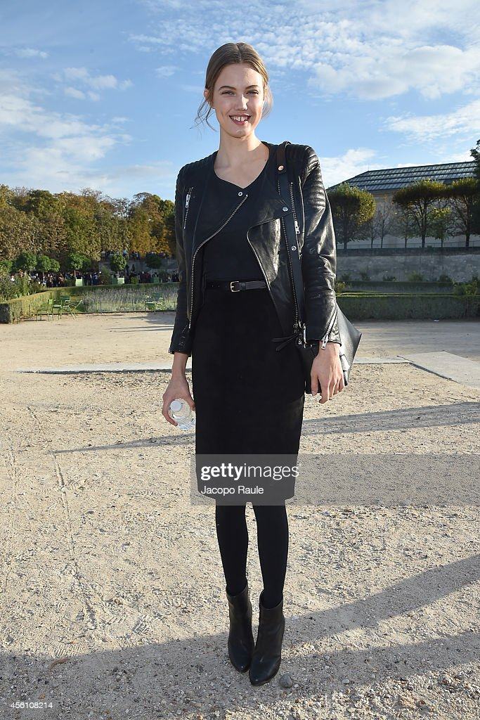 Lindsey Wixson arrives at Nina Ricci Show during Fashion Week Womenswear SS 2015 on September 25 2014 in Paris France