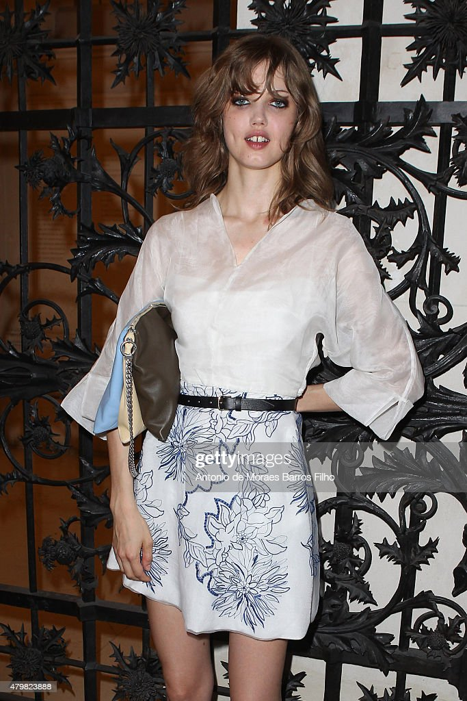Lindsey Wixson attends the Alexandre Vauthier show as part of Paris Fashion Week Haute Couture Fall/Winter 2015/2016 on July 7 2015 in Paris France