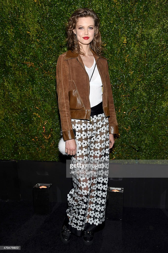 <a gi-track='captionPersonalityLinkClicked' href=/galleries/search?phrase=Lindsey+Wixson&family=editorial&specificpeople=6876942 ng-click='$event.stopPropagation()'>Lindsey Wixson</a> attends the Chanel Dinner during the 2015 Tribeca Film Festival at Balthazar on April 20, 2015 in New York City.