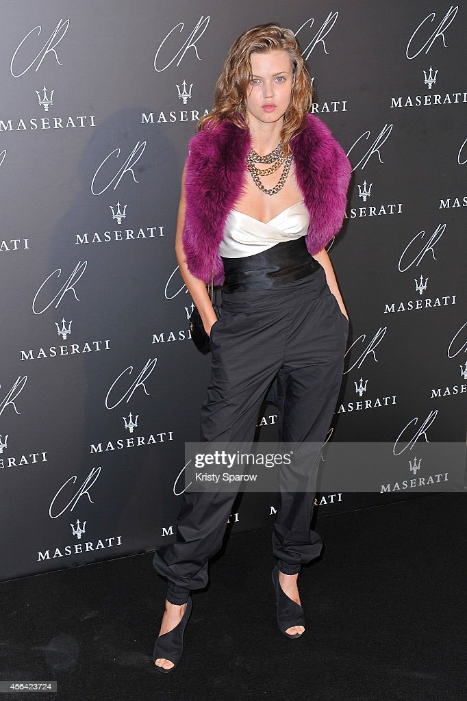 Lindsey Wixson attends the CR Fashion Book Issue No5 Launch Party Hosted by Carine Roitfeld and Stephen Gan at The Peninsula Paris on September 30...