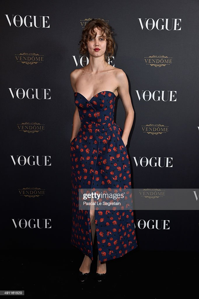 <a gi-track='captionPersonalityLinkClicked' href=/galleries/search?phrase=Lindsey+Wixson&family=editorial&specificpeople=6876942 ng-click='$event.stopPropagation()'>Lindsey Wixson</a> attends the Vogue 95th Anniversary Party on October 3, 2015 in Paris, France.
